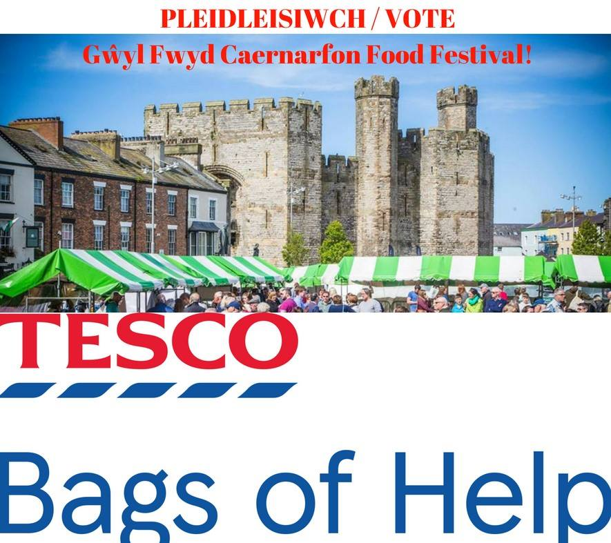VOTE FOR FESTIVAL IN TESCO'S 'BAGS OF HELP' SCHEME